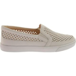 Womens Nine West Brodie White Talko Kid Leather