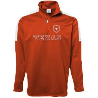 Columbia Texas Longhorns Post Up Half Zip Fleece   Burnt Orange