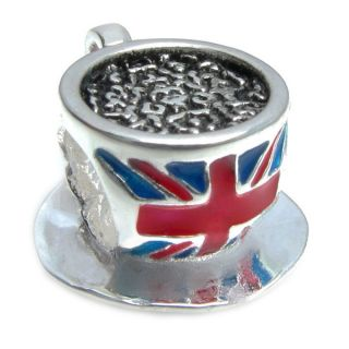 Queenberry Sterling Silver Britain Flag Union Jack Tea Cup European