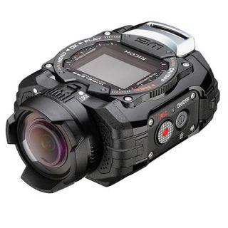 08273 Ricoh Ricoh Ricoh WG M1 Action Camera, 14MP, 1.5 LCD Display, HDMI/USB 2.0, Wi Fi, 1080p Full HD Video, 160deg. Ultra Wide Angle Lens, Waterproof/Shockproof, Black