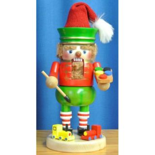Steinbach Signed Gnome Twinkle the Elf with Toy German Wood Christmas