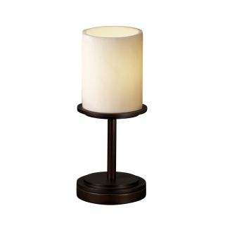 CandleAria Dakota Portable 12 H Table Lamp with Drum Shade by Justice
