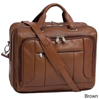 McKlein River West 17 inch Leather Laptop Case   12140935