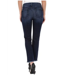 7 For All Mankind High Waist Ankle Straight with Raw Hem in Acropolis Deep Sky