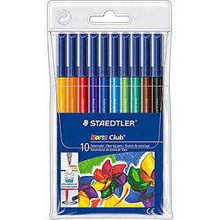 Staedtler Noris Club #326 Fiber Tip Pens, Assorted, 10/Pack