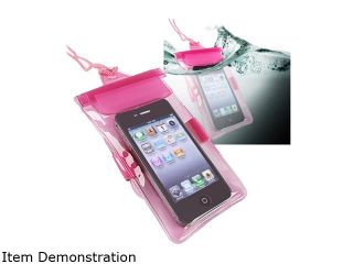 Insten Hot Pink Universal Waterproof Bag Case 772039