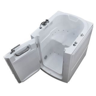 Endurance 38 in L x 32 in W x 38 in H White Acrylic Rectangular Walk in Air Bath