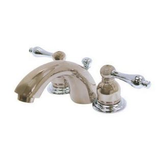 Elements of Design Satin Nickel/Chrome 2 Handle 4 in Mini Widespread Bathroom Faucet (Drain Included)