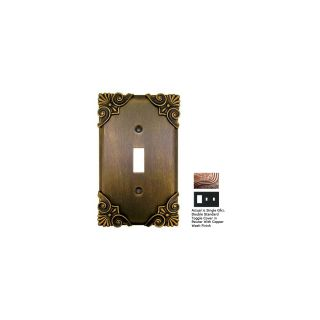 Anne at Home Corinthia 3 Gang Pewter with Copper Wash Combination Pewter Wall Plate