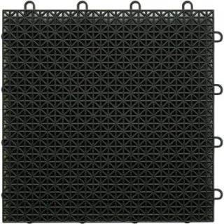 TopDeck Black Polypropylene 1ft. x 1ft. Deck Tile (40   Case) DTBLK
