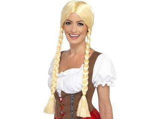 Bavarian Beer Beauty Adult Costume Wig