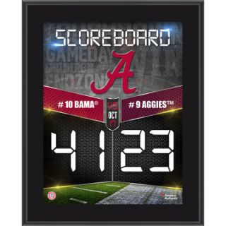Alabama Crimson Tide  Authentic 2015 Win Over Texas A&M Aggies 10.5 x 13 Sublimated Plaque