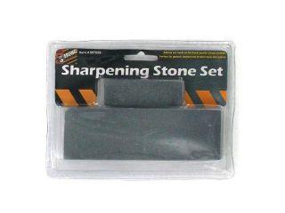Bulk Buys MT058 24 Grey Rock Sharpening Stone Set   Pack of 48