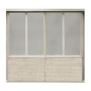 SoftWall Finishing Systems 20 sq. ft. Ivory Fabric Covered Bottom Kit Wall Panel SW323087010