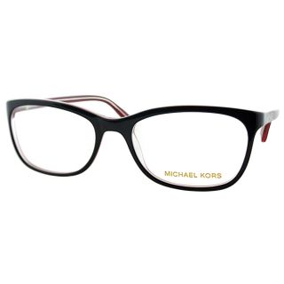 Michael Kors Womens MK 247 021 Black Rectangle Plastic Eyeglasses 54mm