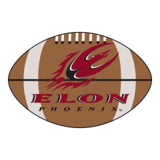 FANMATS NCAA Elon University Brown 1 ft. 10 in. x 2 ft. 11 in. Specialty Accent Rug 2058