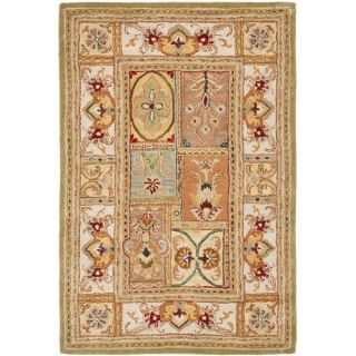 Safavieh Transitional Handmade Classic Empire Wool Panel Rug (5 x 8