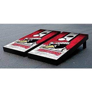 Victory Tailgate NCAA Vintage Wooden Cornhole Game Set; Youngstown State University Penguins