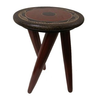 Seesham Wood Cotton Rayon Monochrome Jaipur Foot Stool (India)