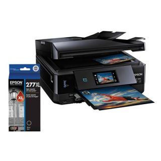 C11CD95201 A Epson Epson Expression Photo XP 860 All in One Inkjet Printer,   Bundle With Epson 277 Claria Photo HD High Capacity Black Ink Cartridge