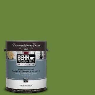 BEHR Premium Plus Ultra 1 gal. #P370 7 Sun Valley Satin Enamel Exterior Paint 985301
