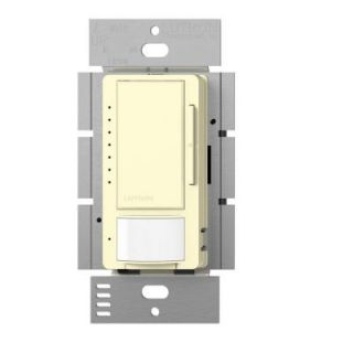 Lutron Maestro 150 Watt Single Pole/Multi Location CFL LED Dimmer with Occupancy Sensor   Almond MSCL OP153M AL