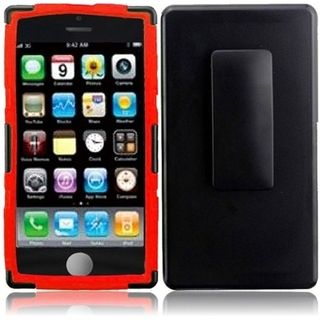 BasAcc Black/ Red Holster Case for Apple iPhone 5C
