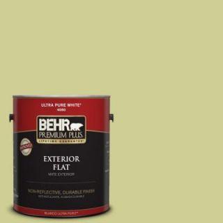 BEHR Premium Plus 1 gal. #M340 4 Wasabi Flat Exterior Paint 440001