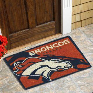 Denver Broncos 18 x 30 Coir Welcome Mat