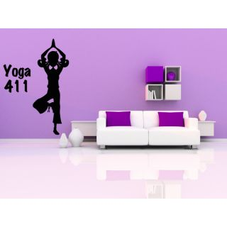 Yoga Meditation Training Position 411 Wall Art Sticker Decal