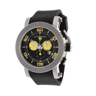 Swiss Legend Mens SL 30465 01 YA Cyclone Yellow Stainless Steel Watch