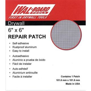 Wal Board Tools 6 in. x 6 in. Drywall Repair Self Adhesive Wall Patch 54 006