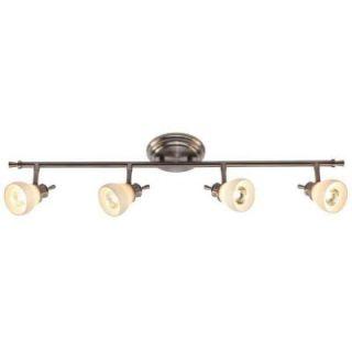 Hampton Bay 4 Light Satin Nickel Directional Ceiling or Wall Track Lighting Fixture RB169 C4