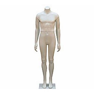 68 Headless Male Mannequin, Milky White