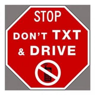 Don't Text And Drive Poster Print (20 x 20)