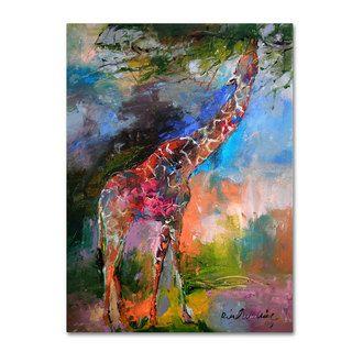 Richard Wallich Giraffes Canvas Art