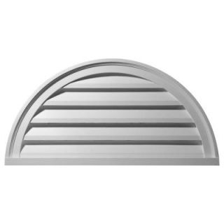 Ekena Millwork 2 in. x 40 in. x 20 in. Functional Half Round Gable Louver Vent GVHR40F