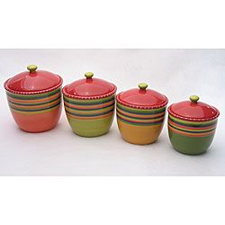 Certified International Hot Tamale 4 piece Canister Set