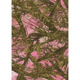 True Timber Pink 3 ft. 2 in. x 4 ft. 9 in. Indoor Area Rug 1400 00386 359