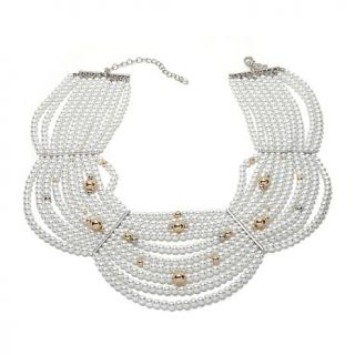 """Homage by Consuelo Vanderbilt Costin """"The Cascade"""" Simulated Pearl Goldtone Mul   7891313"""