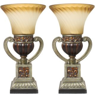 Casa Cortes Parisian Torchiere 22 inch Uplight Table Lamp (Set of 2