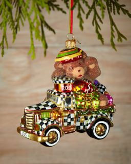 MacKenzie Childs Truck Full of Treats Christmas Ornament