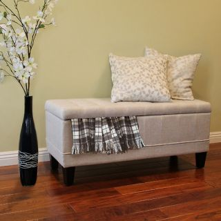 DonnieAnn Company Dorothy Upholstered Storage Entryway Bench