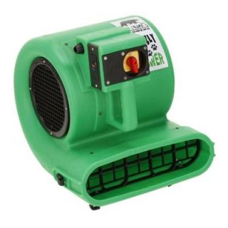 B Air Low Amp 2700 CFM Daisy Chainable Air Mover Floor Dryer Carpet Dryer Safety Certified GP 33 ETL GREEN