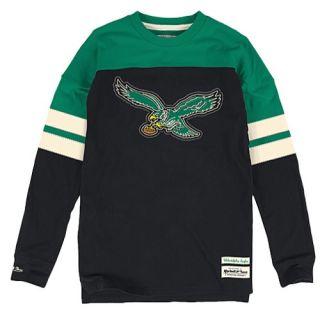 Mitchell & Ness NFL Pump Fake Heavyweight L/S T Shirt   Mens   Football   Clothing   Philadelphia Eagles   Black