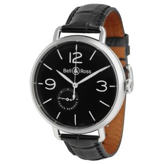 Bell and Ross Reserve De Marche Automatic Black Leather Mens Watch