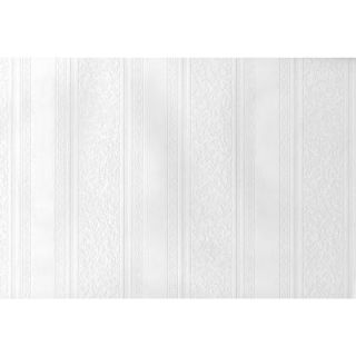Brewster 56.4 sq. ft. Dorothy Textured Stripe Paintable Wallpaper 497 59003