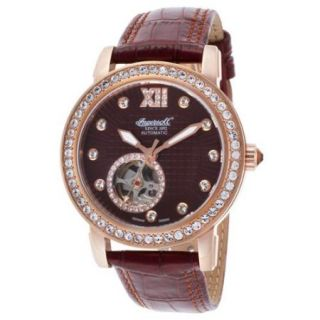 Ingersoll Women's Ltd Ed. Freeport Auto Pale Brown Genuine Leather And Dial Movement: Automatic