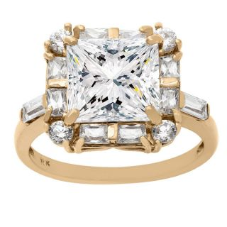 Gioelli 10KT Gold 9.05 tcw 9mm Square Center Stone CZ Ring   16474529