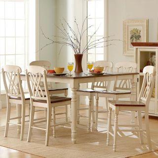 TRIBECCA HOME Mackenzie 7 piece Country White Dining Set